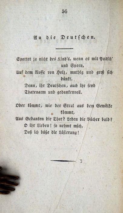 Hölderlin Friedrich Gedichte 1826 Fons Blavus Antiquariat